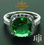 Synthetic Emerald Birthstone Engagement/Party/Cocktail Silver Ring. | Jewelry for sale in Nairobi, Woodley/Kenyatta Golf Course