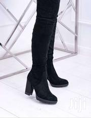 Over the Knee Black Suede Boots | Shoes for sale in Nairobi, Kileleshwa