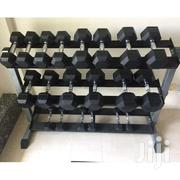 Gym 3 Tier Commercial Dumbbell Rack For Hex Dumbbells | Sports Equipment for sale in Nairobi, Nairobi Central
