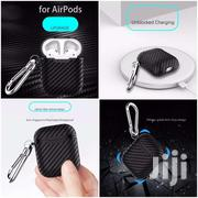 Airpods 1/2 Carbon Fiber Case With Carabiner | Accessories for Mobile Phones & Tablets for sale in Mombasa, Tudor
