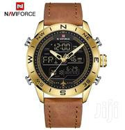 Naviforce Digital Analogue Display,30M Water Resistant,Leather Straps | TV & DVD Equipment for sale in Nairobi, Nairobi Central