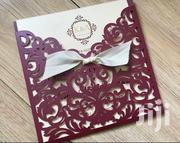 Unique Burgundy Laser Cut Wedding Invitation | Wedding Venues & Services for sale in Nairobi, Nairobi Central