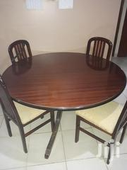Round Dining Table, Wooden With 4 Cream Colouredchairs | Furniture for sale in Machakos, Athi River