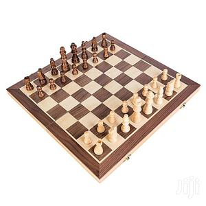 3 In 1 Wooden Chess/Checkers/Backgammon