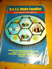 KCSE Made Familiar(Chemistry) | Books & Games for sale in Mombasa, Bamburi