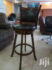 Raised Counter Stools (Made of Genuine Leather Mahogany Hardwood) | Furniture for sale in Nairobi, Woodley/Kenyatta Golf Course