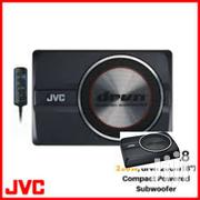 """JVC CW-DRA8 8 250W COMPACT/SLIM/UNDER SEAT POWERED CAR AUDIO SUB W"""" 