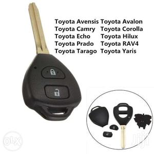 Remote Key Case Shell fit for TOYOTA Rav4 Corolla Hilux 2 Button Fob