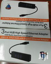 USB 3.0 Hub To 3 Port Usb And Gigabit Lan Adapter | Computer Accessories  for sale in Nairobi, Nairobi Central