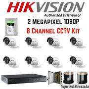 8 Hikvision 1080p CCTV Cameras Complete System Without Installation | Cameras, Video Cameras & Accessories for sale in Nairobi, Nairobi Central