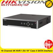 Hikvision DS-7716NI-K4/16P 16 Channels Embedded Plug & Play 4K NVR | Computer Accessories  for sale in Nairobi, Nairobi Central