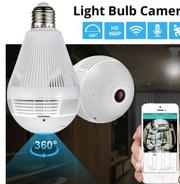 LED Light 960P Wireless Panoramic Home Security Wifi Bulb IP Camera | Security & Surveillance for sale in Nairobi, Nairobi Central