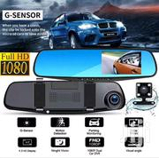 Car Black Box DVR HD 1080P Dual Lens Auto Mirror With Rear View Camera | Vehicle Parts & Accessories for sale in Nairobi, Parklands/Highridge