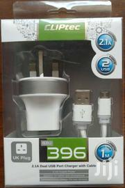 Cliptec 2.1A DUAL USB Port Charger With Cable | Accessories for Mobile Phones & Tablets for sale in Nairobi, Ngara