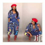 Fashion Euramerican Cartoon Printing One-Piece Jumpsuits -Denim Print | Clothing for sale in Nairobi, Nairobi Central