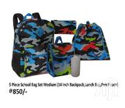 School Bag For Ages 5-8 Years 5 Piece Set Medium Size 14 Inch | Bags for sale in Nairobi, Nairobi Central