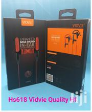 VIDVIE Sports Ear Hook Earphones Wired Headset With Microphone Earbuds | Audio & Music Equipment for sale in Nairobi, Nairobi Central