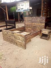 Rusty Pallet Bed With Side Cabinets | Furniture for sale in Nairobi, Embakasi