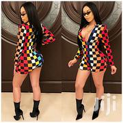 Fashion Long Sleeve Printed Plaid Playsuit-Sexy Rompers-Party/Clubbing | Clothing for sale in Nairobi, Nairobi Central