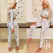 Dollar Bill Print Set-two Pcs Money Print Crop Top&Pant-sexy Outfits | Clothing for sale in Nairobi, Nairobi Central