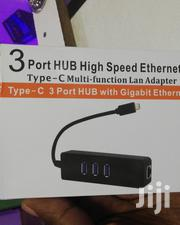 USB C To USB C ( 3 Port Hub) And Ethernet Lan Adapter | Computer Accessories  for sale in Nairobi, Nairobi Central