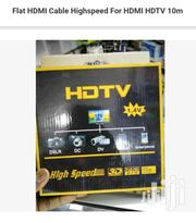 Flat HDMI Cable High-speed For HDMI HDTV 10m | TV & DVD Equipment for sale in Nairobi, Nairobi Central