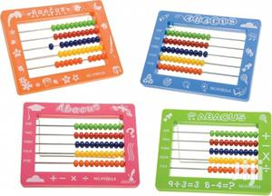 Abacus Plastic 15x11.5 Cm With 50 Beads With Metal Stand