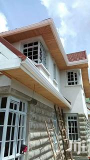 BRILLIANT WHITE AND BROWN 3M LONG PVC RAIN GUTTER | Building Materials for sale in Nairobi, Nairobi Central