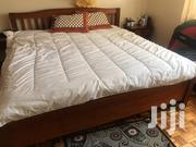 King Bed Hard Wood With Healthy Matters 6 6 And Two Throwers | Furniture for sale in Nairobi, Kilimani