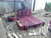 5 by 6 Pallet Bed With a Tyre Side Table | Furniture for sale in Kiambu, Theta