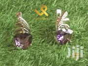 Cocktail / Wedding Genuine Silver Stud Amethyst Earrings | Jewelry for sale in Nairobi, Nairobi Central
