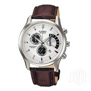 CASIO White Dial Watch With Brown Leather Straps BEM501L-7 AV | Watches for sale in Nairobi, Nairobi Central