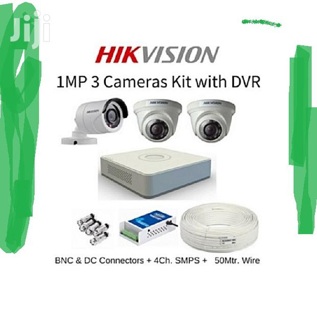 3 CCTV Cameras Security Surveillance Complete System Kit Package