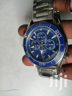 Silver Blue Omega Watch