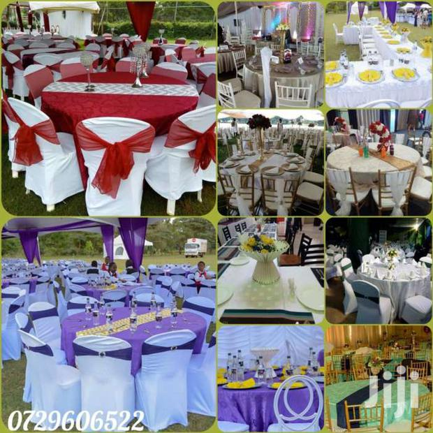 Archive: Table Cloths,Table Linen,Seat Covers,Tie Backs For Hire