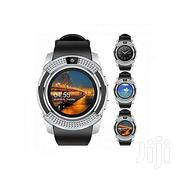 V8 Touch Screen Sports Round Screen Smart Phone Watch - Silver Black | Accessories for Mobile Phones & Tablets for sale in Nairobi, Nairobi Central