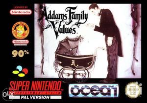 Addams Family Values Game / Super Nintendo Entertainment Pal System
