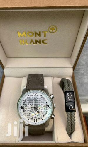 Mont Blanc Leather Watch