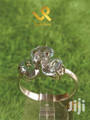 2 Tier Aquamarine Ladies Accesory Genuine Silver Ring | Jewelry for sale in Nairobi, Nairobi Central