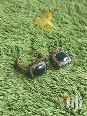 Agate and Green Spinel Genuine Silver Engagement Ring | Jewelry for sale in Nairobi, Nairobi Central