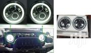 Jeep Wrangler/Hummer: 7inch LED Headlights With Halo Ring & Dual Beam | Vehicle Parts & Accessories for sale in Nairobi, Nairobi Central