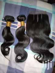 "10 And 12"" Human Hair Bundles With 12"" Closure"" 