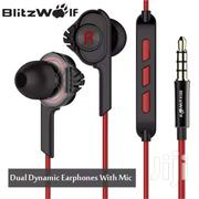 Blitzwolf ES2 Dual Dynamic Earphones With Mic | Accessories for Mobile Phones & Tablets for sale in Nairobi, Nairobi Central