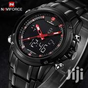 Naviforce 9050 Men's Sport Stainless Steel Digital And Analog Watch | Watches for sale in Nairobi, Nairobi Central
