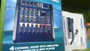 Brand New Sealed Max Mixer Amplified 4channel USB Bluetooth 200w Each | Musical Instruments for sale in Nairobi, Nairobi Central