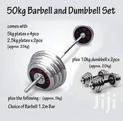 Barbell and Dumbbell 50kgs | Sports Equipment for sale in Mombasa, Tononoka