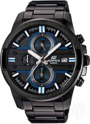 Black Men's Watch With Stainless Steel Straps EFR 543BK 1AV 2v | Watches for sale in Nairobi, Nairobi Central