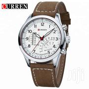 CURREN 8152 Luxury Leather White Wrist Watch - For Businessmen Army | Watches for sale in Nairobi, Nairobi Central