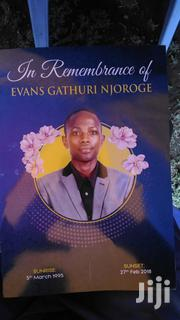 Mombasa Funeral Eulogy Obituary Programs Tshirt Printing Services | Computer & IT Services for sale in Mombasa, Tudor