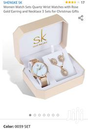 Women Sets Wrist Watch With Rose Gold Ear Rings And Necklace 3 Sets   Watches for sale in Nairobi, Embakasi